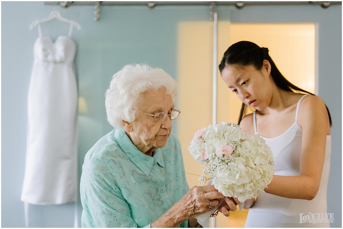 Lorien Hotel Brunch wedding bride with grandma.JPG