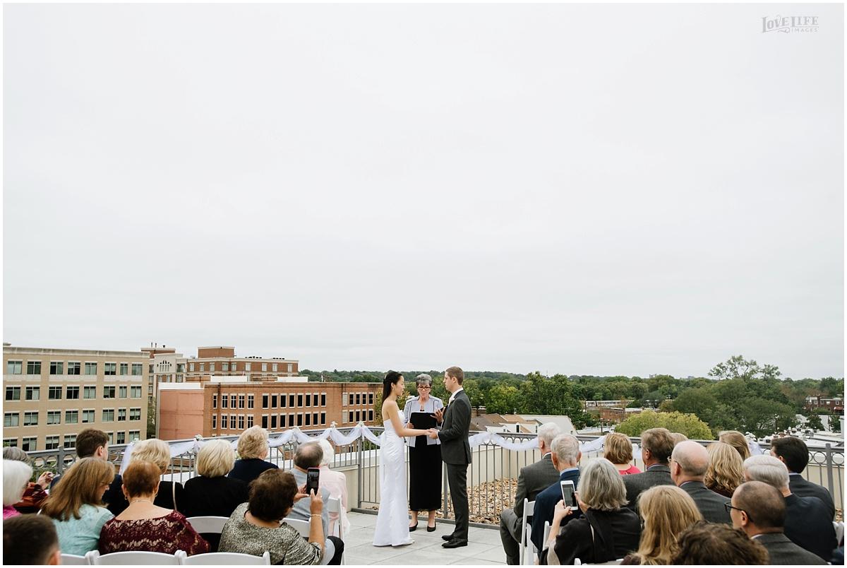 Lorien Hotel Brunch wedding rooftop ceremony.JPG