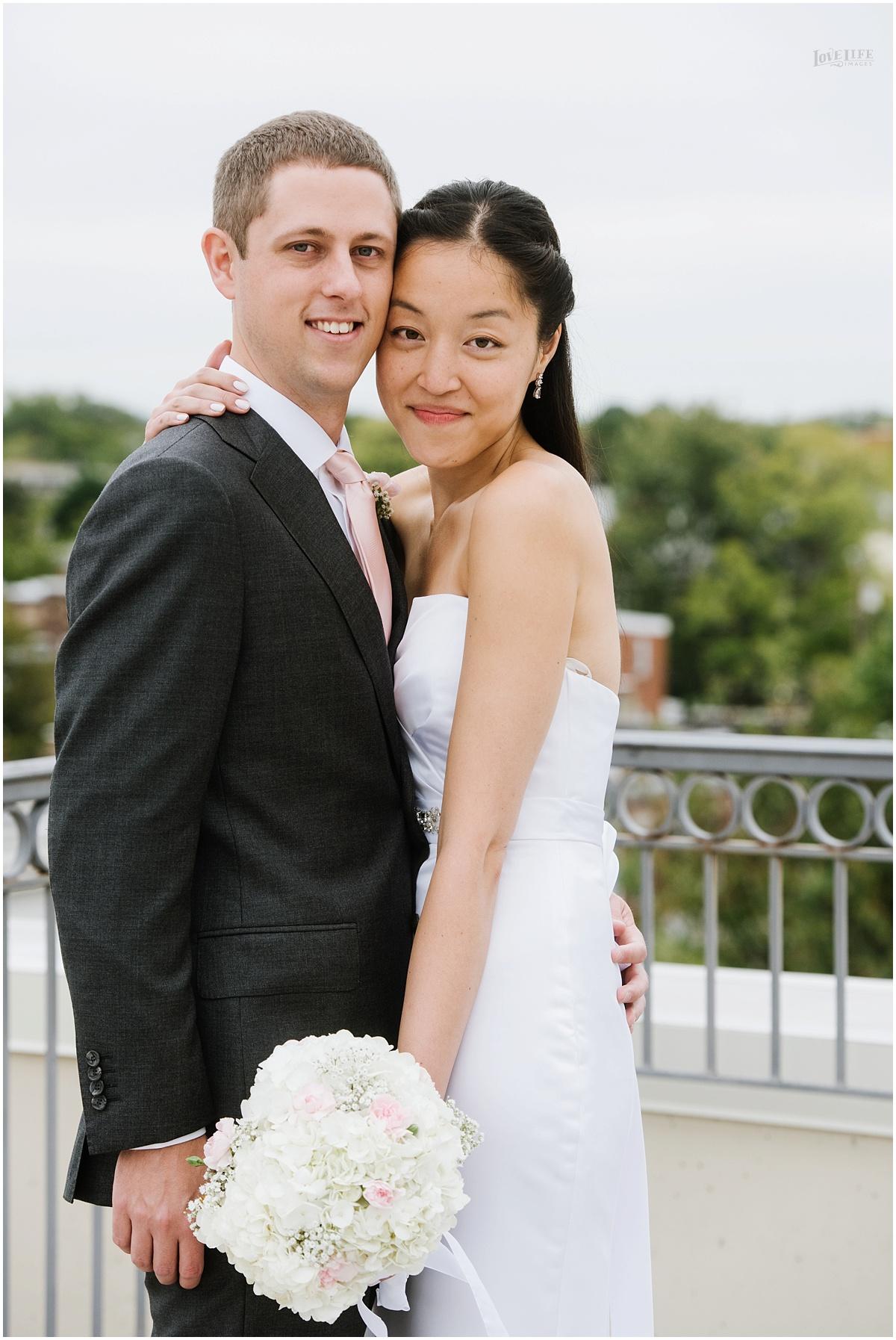 Lorien Hotel Brunch wedding rooftop bridal portrait.JPG