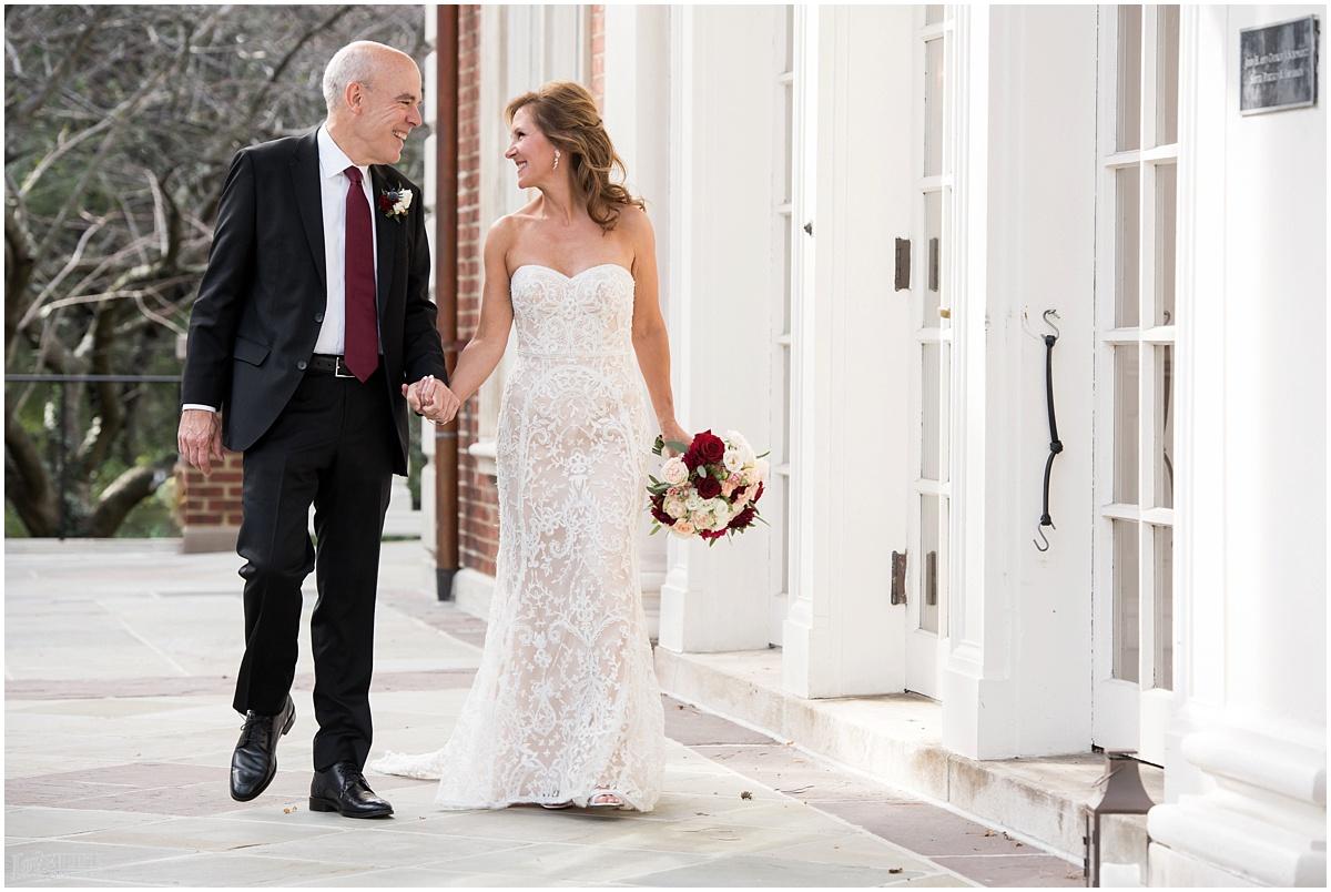 Strathmore Mansion wedding bride and groom walking.jpg