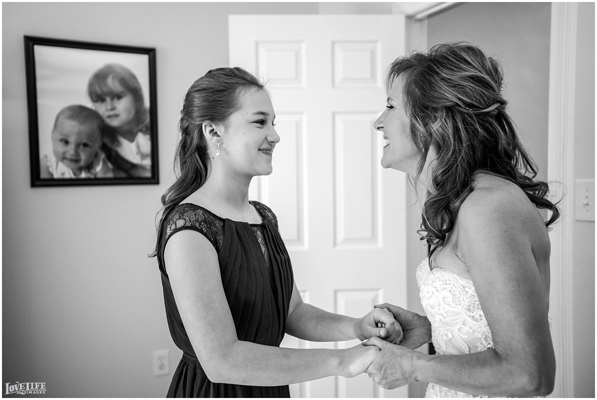 Strathmore Mansion wedding bride with daughter getting ready.jpg