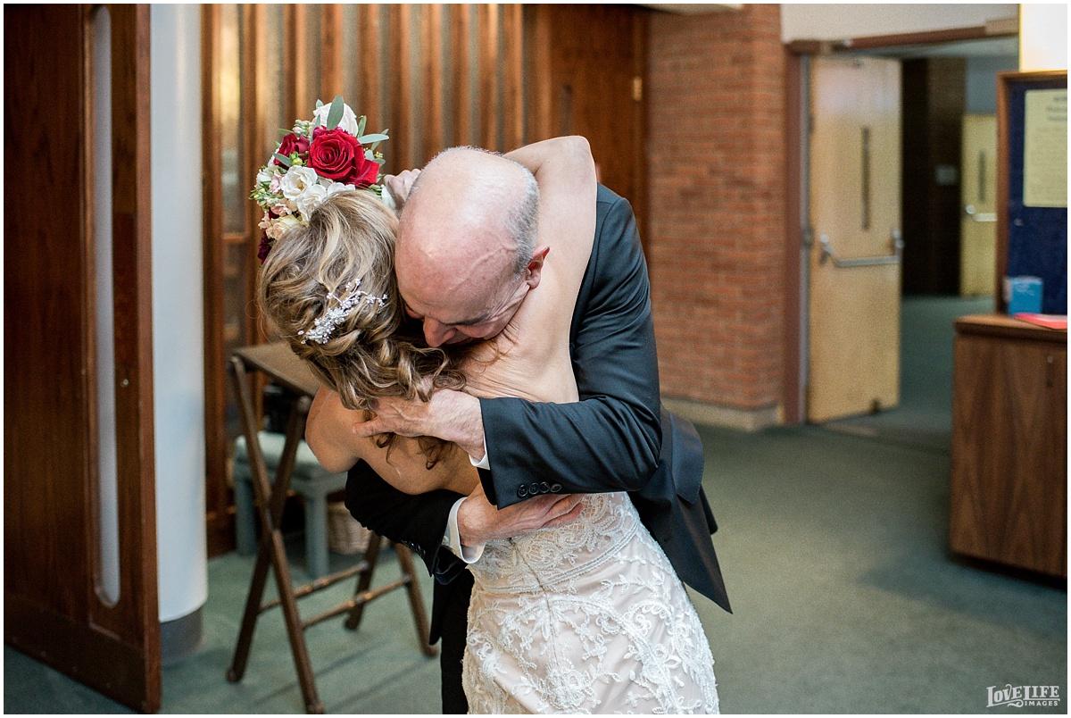 Strathmore Mansion wedding bride and groom hugging.jpg