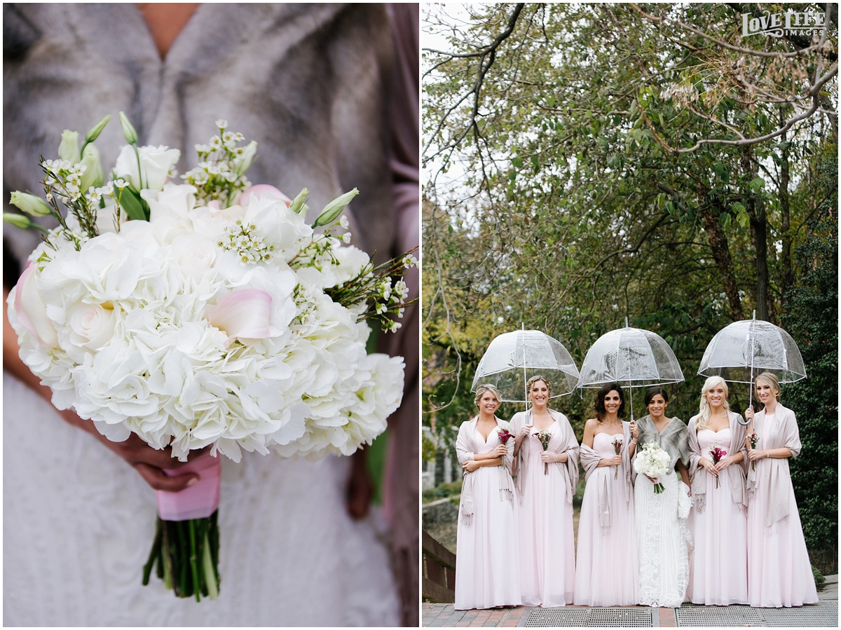 Pinstripes DC Wedding bridesmaids in pale pink with white bouquets.jpg