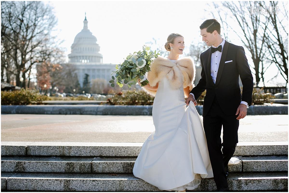 District Winery Winter Wedding bride and groom in senate park.JPG