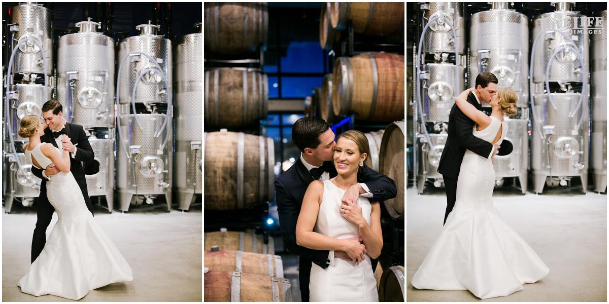 District Winery Winter Wedding bridal portraits with wine barrels.JPG