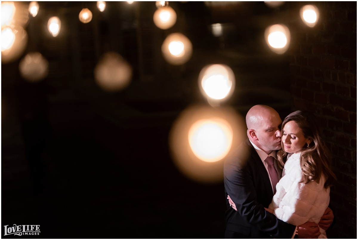 Lorien Hotel Wedding bride and groom with lights portrait.jpg