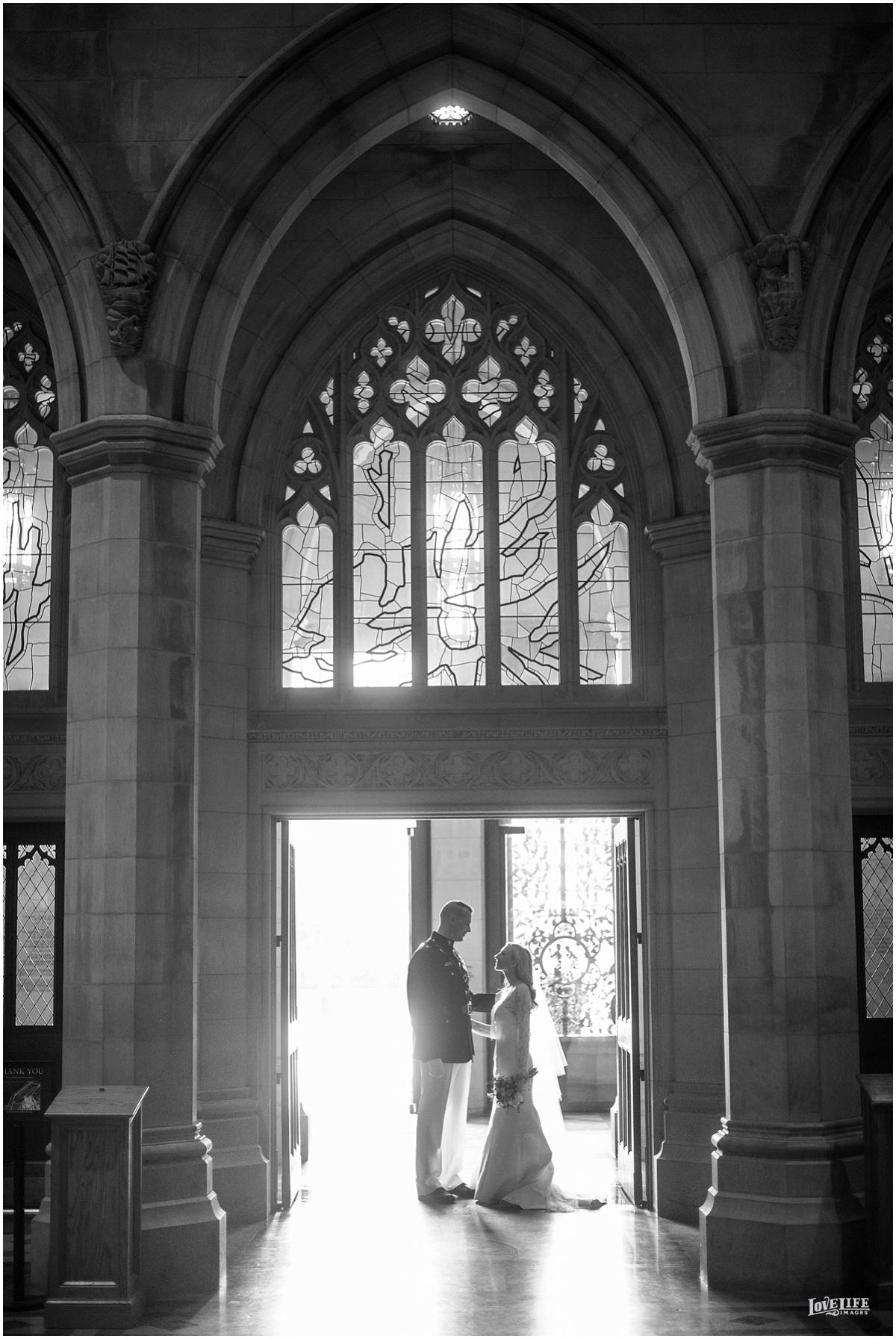 Cosmos Club DC Wedding bride and groom portrait in church.jpg