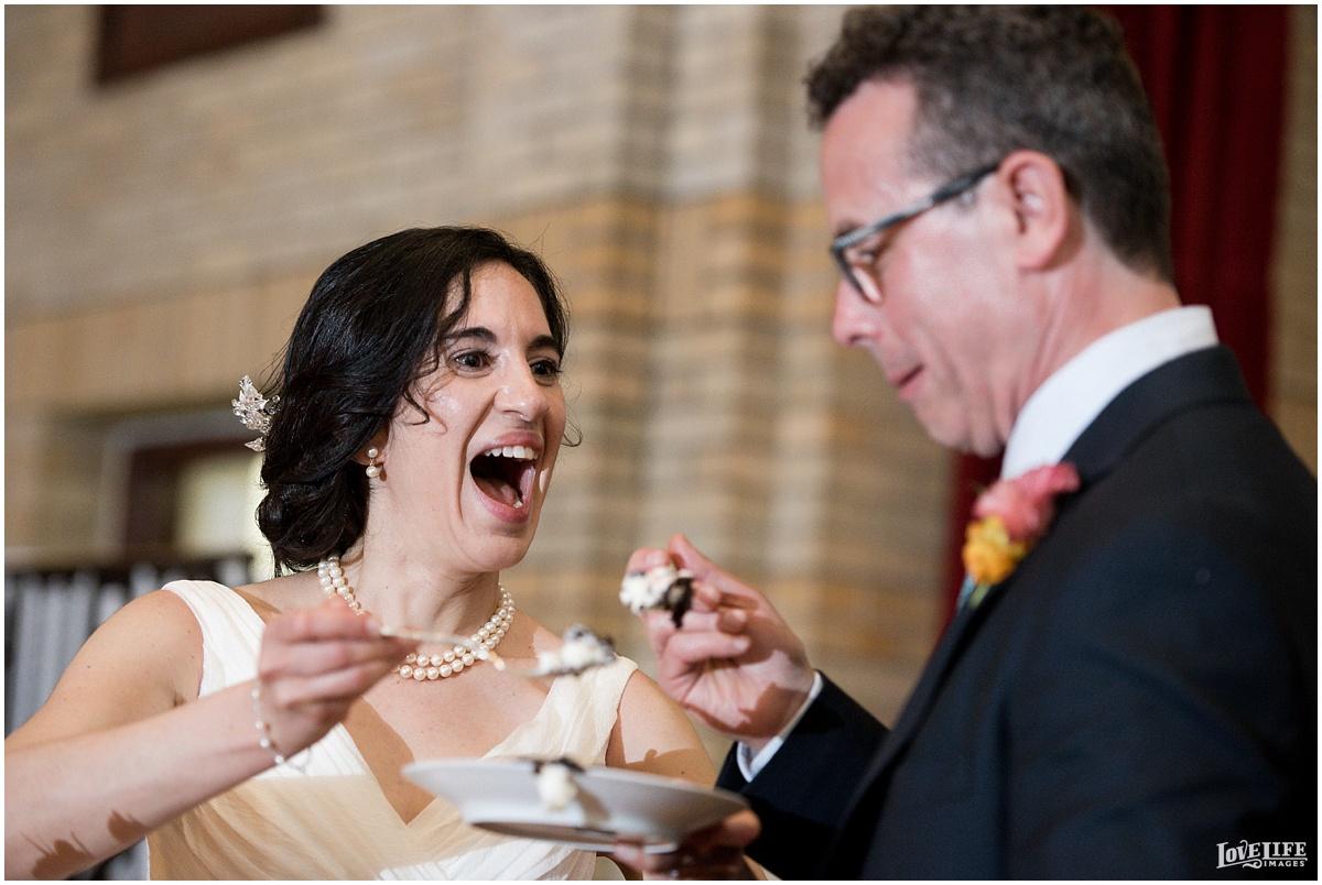 St Francis Hall Wedding cake cutting.jpg