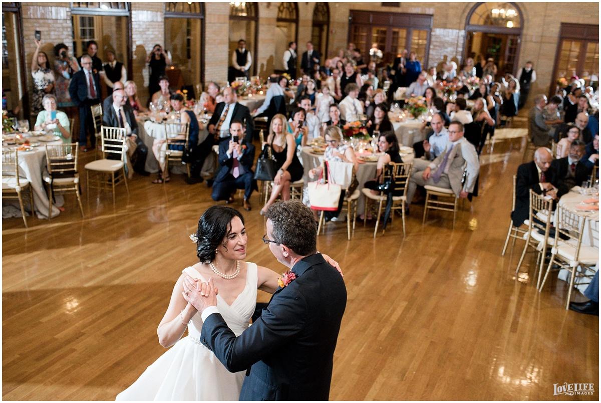 St Francis Hall Wedding bride and groom dancing.jpg