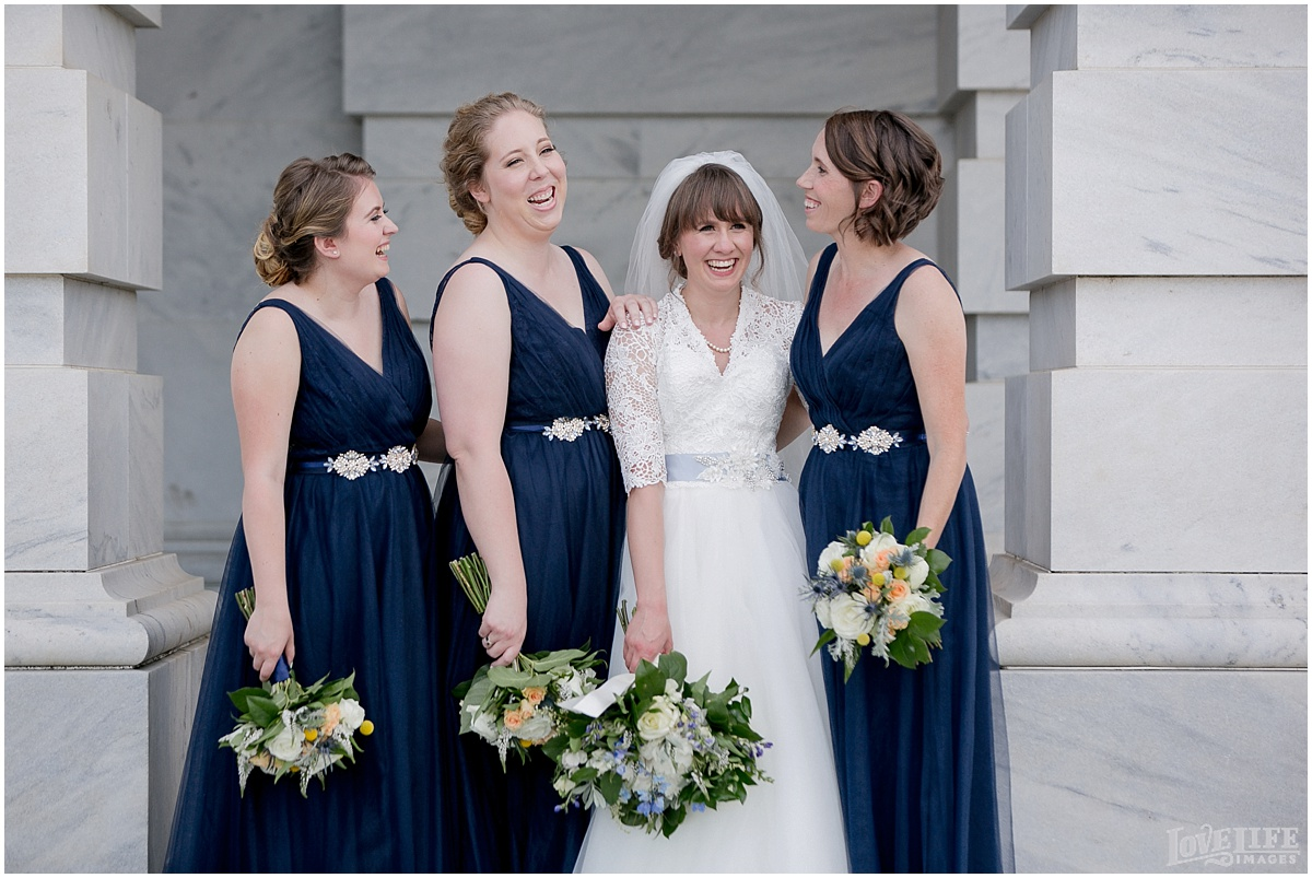 Dumbarton House DC Wedding bridesmaids laughing.jpg