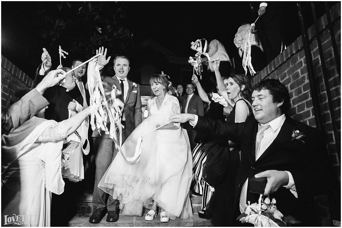 Dumbarton House DC Wedding ribbon exit.jpg