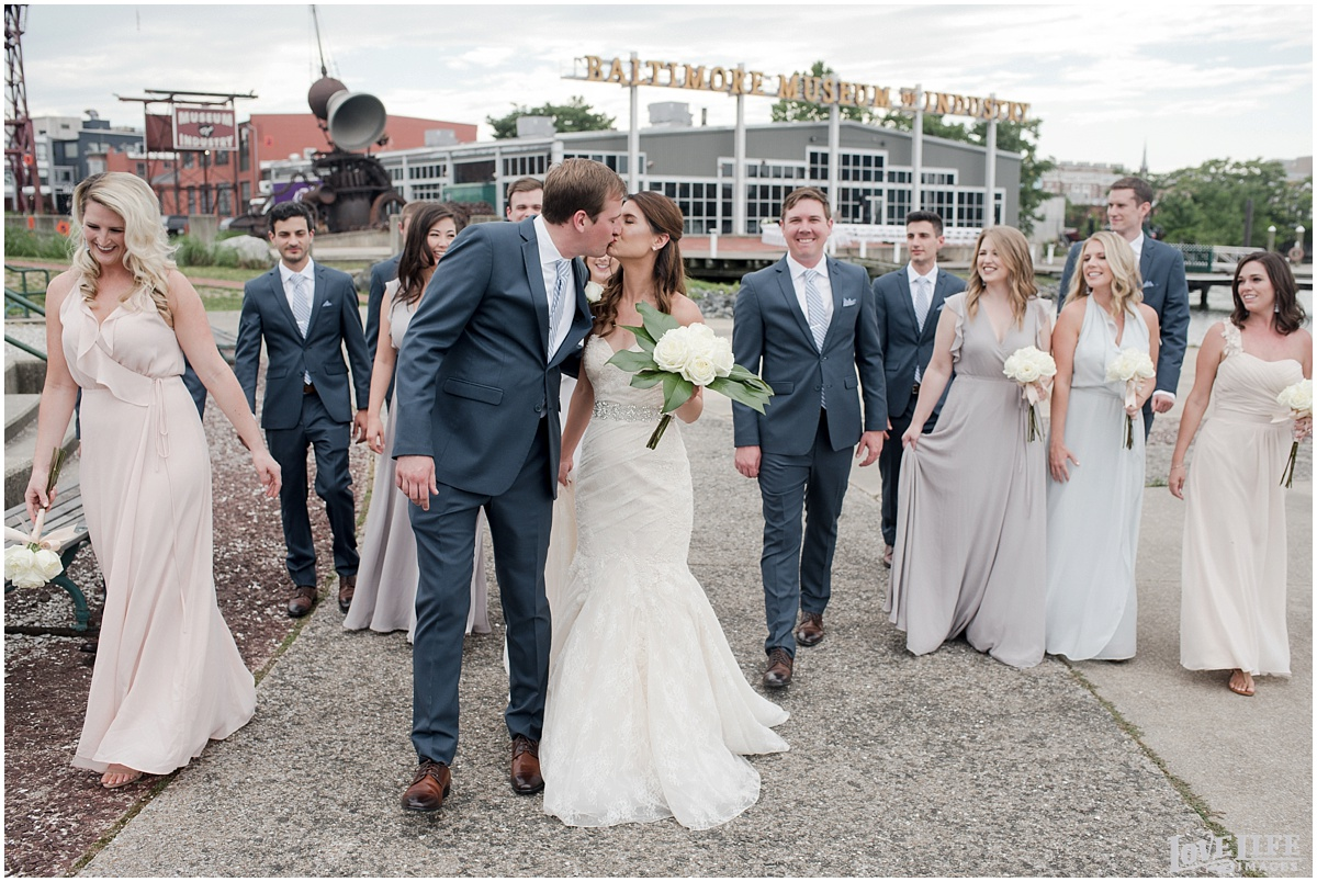 Baltimore Museum of Industry Wedding bridal party portrait.jpg