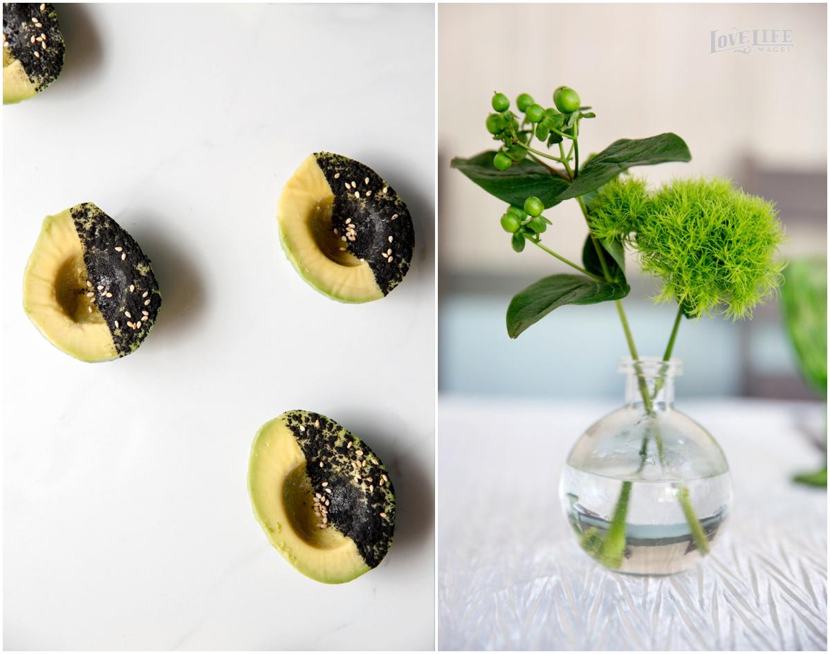 Black and Bare Avocado   Ground Black Rice, Toasted Sesame, Sea Salt, Reserve Olive Oil