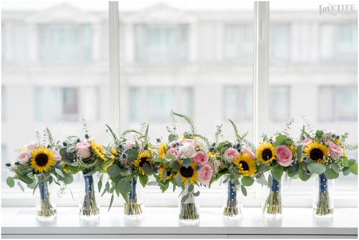 Park Hyatt DC Wedding sunflower bouquets.jpg