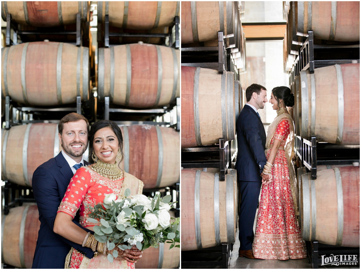 Multicultural District Winery DC Wedding wine barrel portraits.jpg