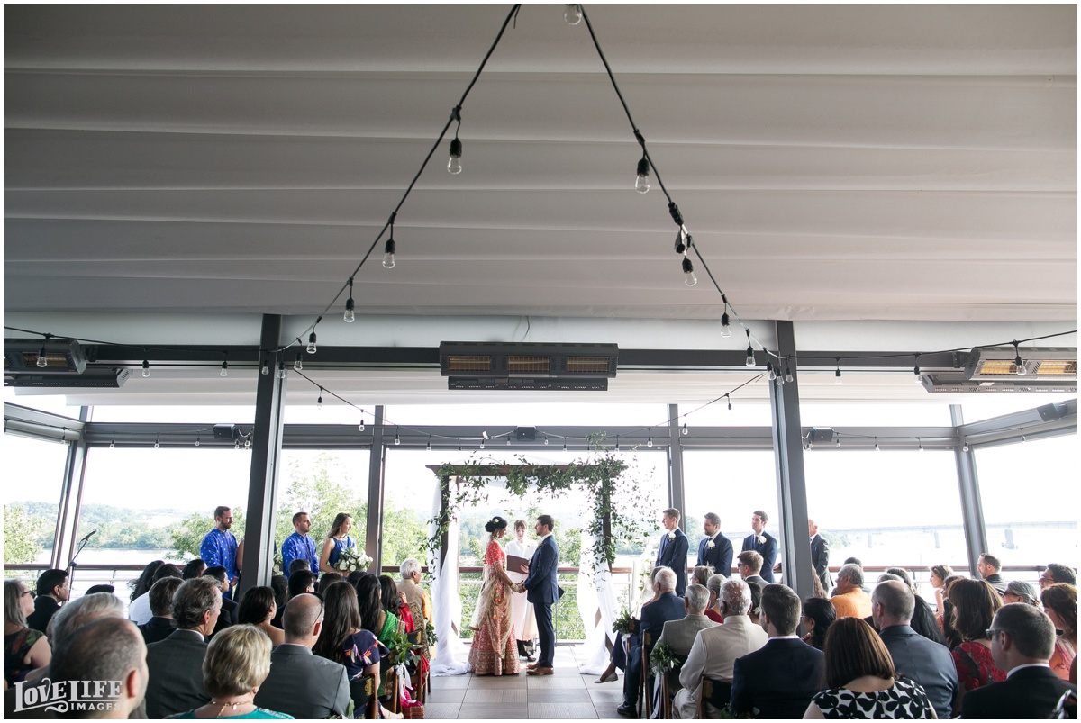 Multicultural District Winery DC Wedding outdoor rooftop ceremony.jpg