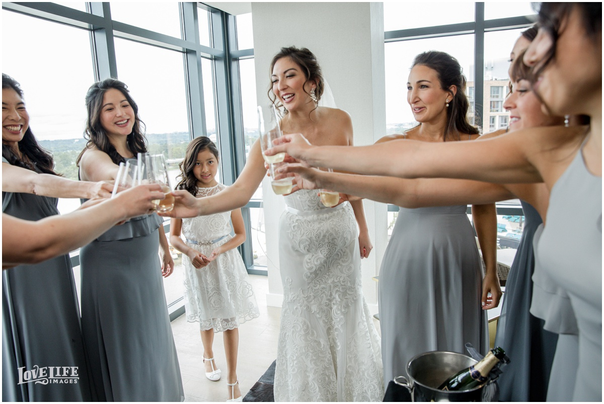 District Winery Fall DC wedding bridesmaid champagne toast.JPG