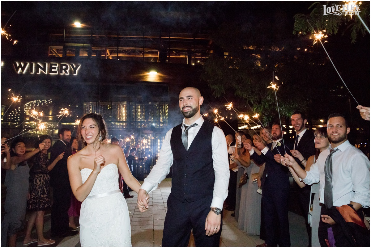 District Winery Fall DC wedding sparkler exit.JPG