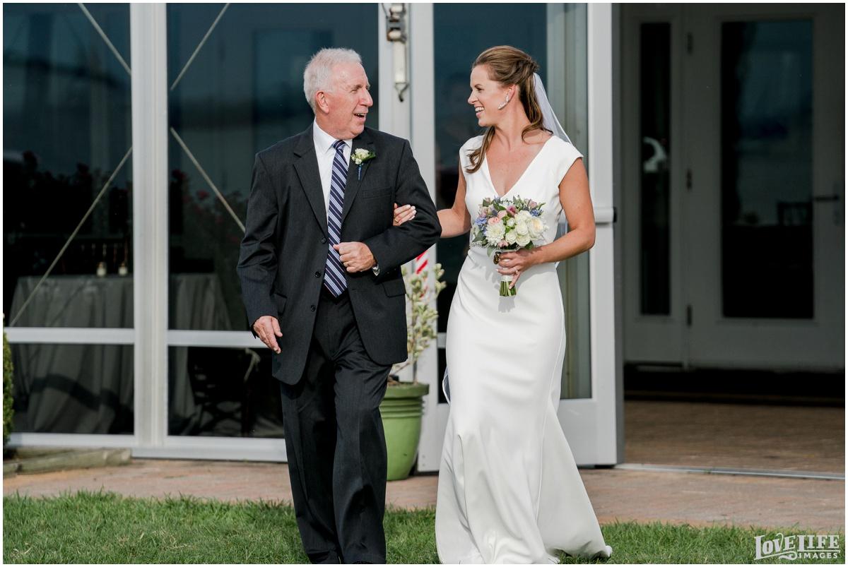 Silver Swan Bayside Wedding bride with father.jpg