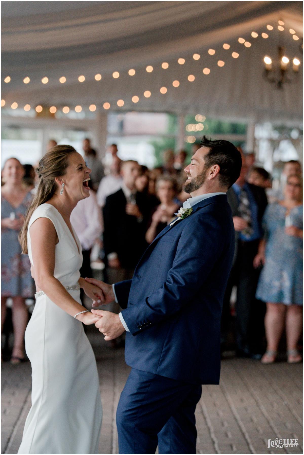 Silver Swan Bayside Wedding first dance laughing.jpg