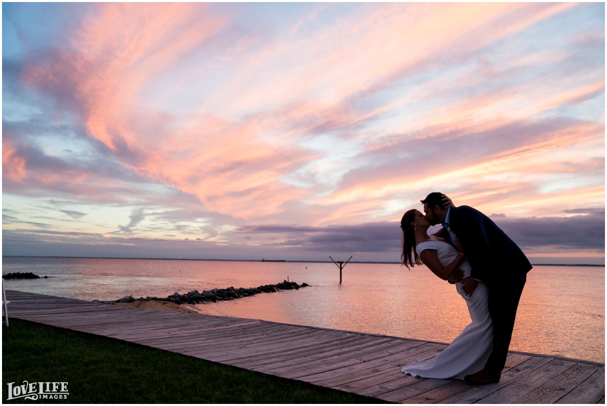 Silver Swan Bayside Wedding boardwalk sunset portrait.jpg