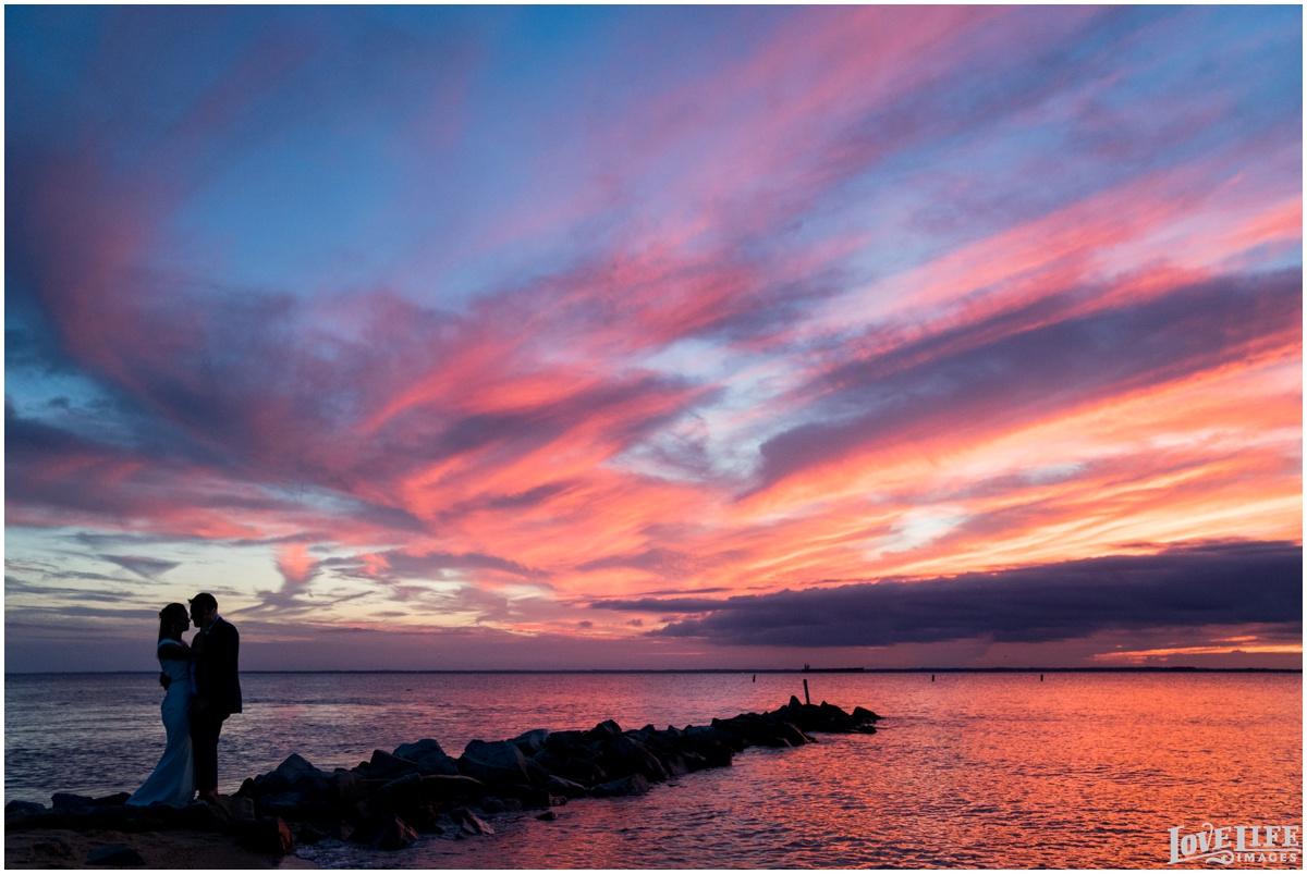 Silver Swan Bayside Wedding sunset portrait on jetty.jpg