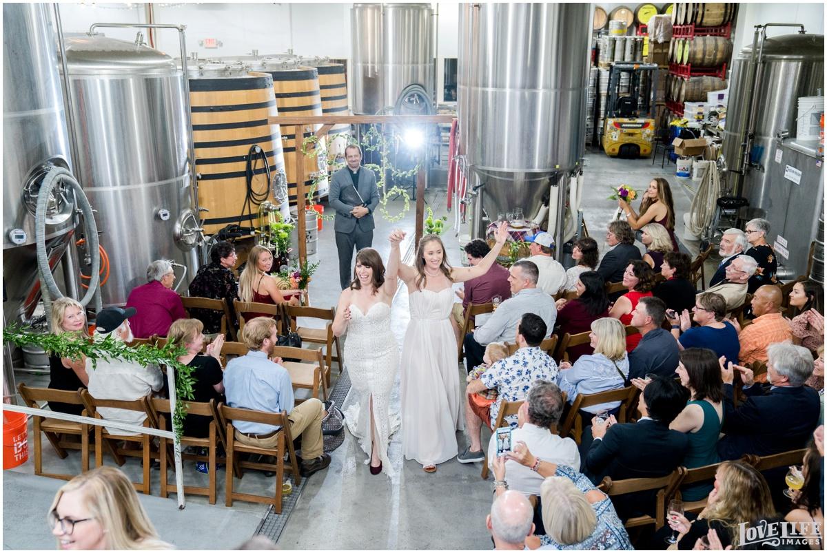 Same Sex Brewery DC Wedding newlyweds recessional.jpg