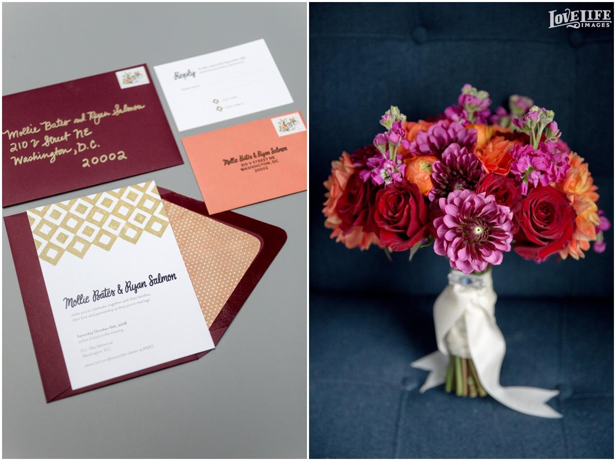 Anxo Cidery DC Wedding fall invitation and bridal bouquet.jpg