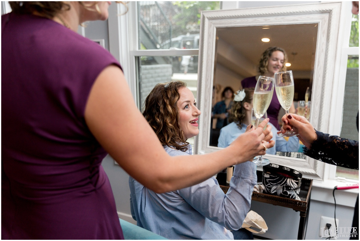 Anxo Cidery DC Wedding getting ready champagne toast.jpg