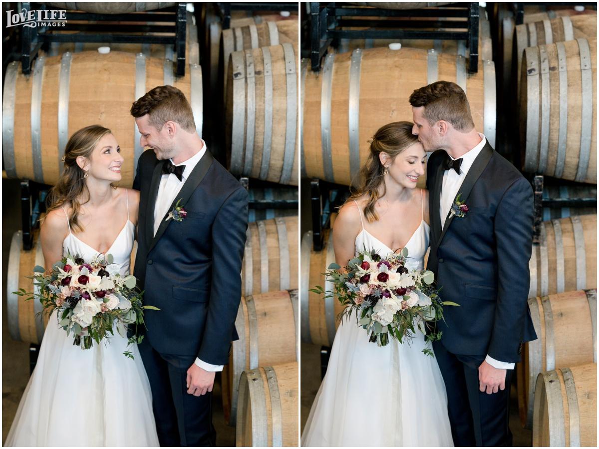 District Winery DC Wedding bride groom barrel room portraits.jpg