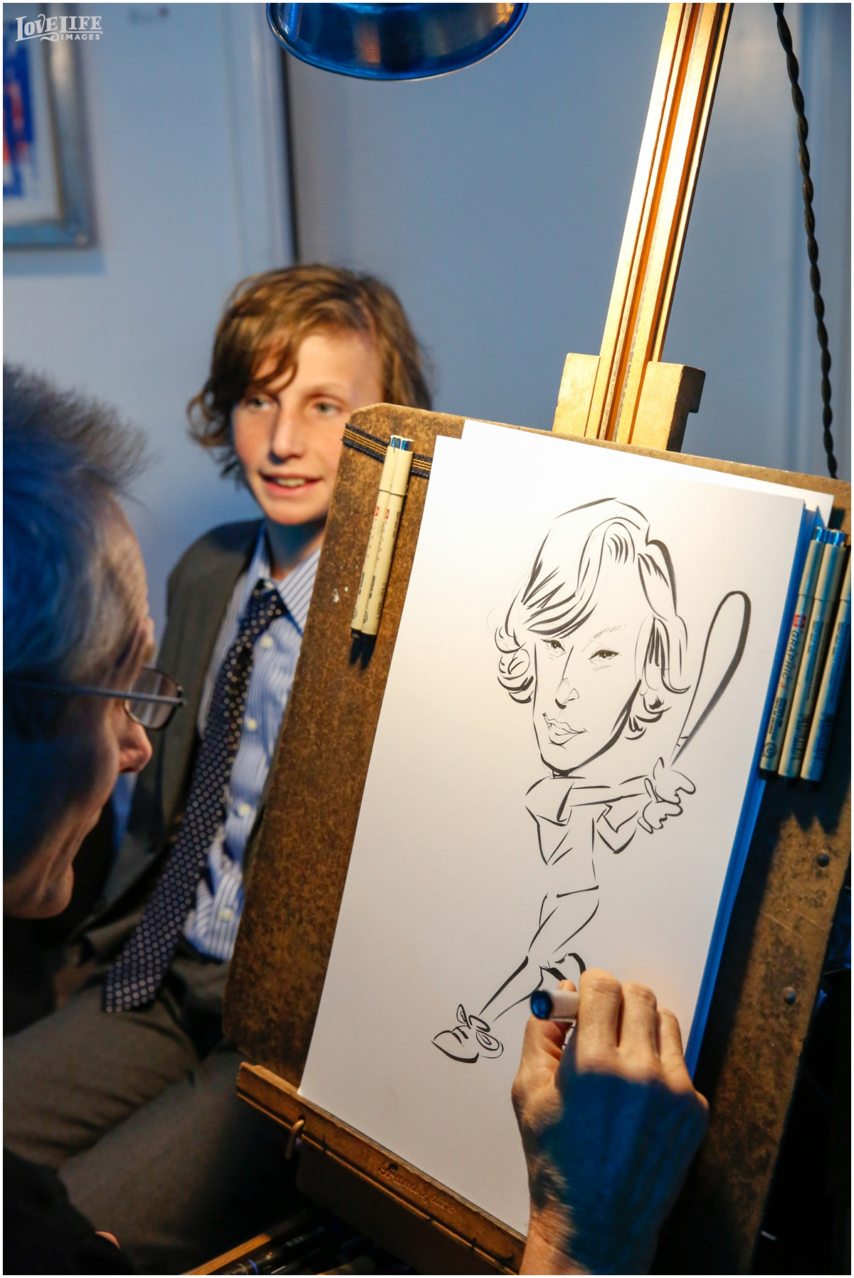 Longview Gallery Bar Mitzvah caricature artist.jpg