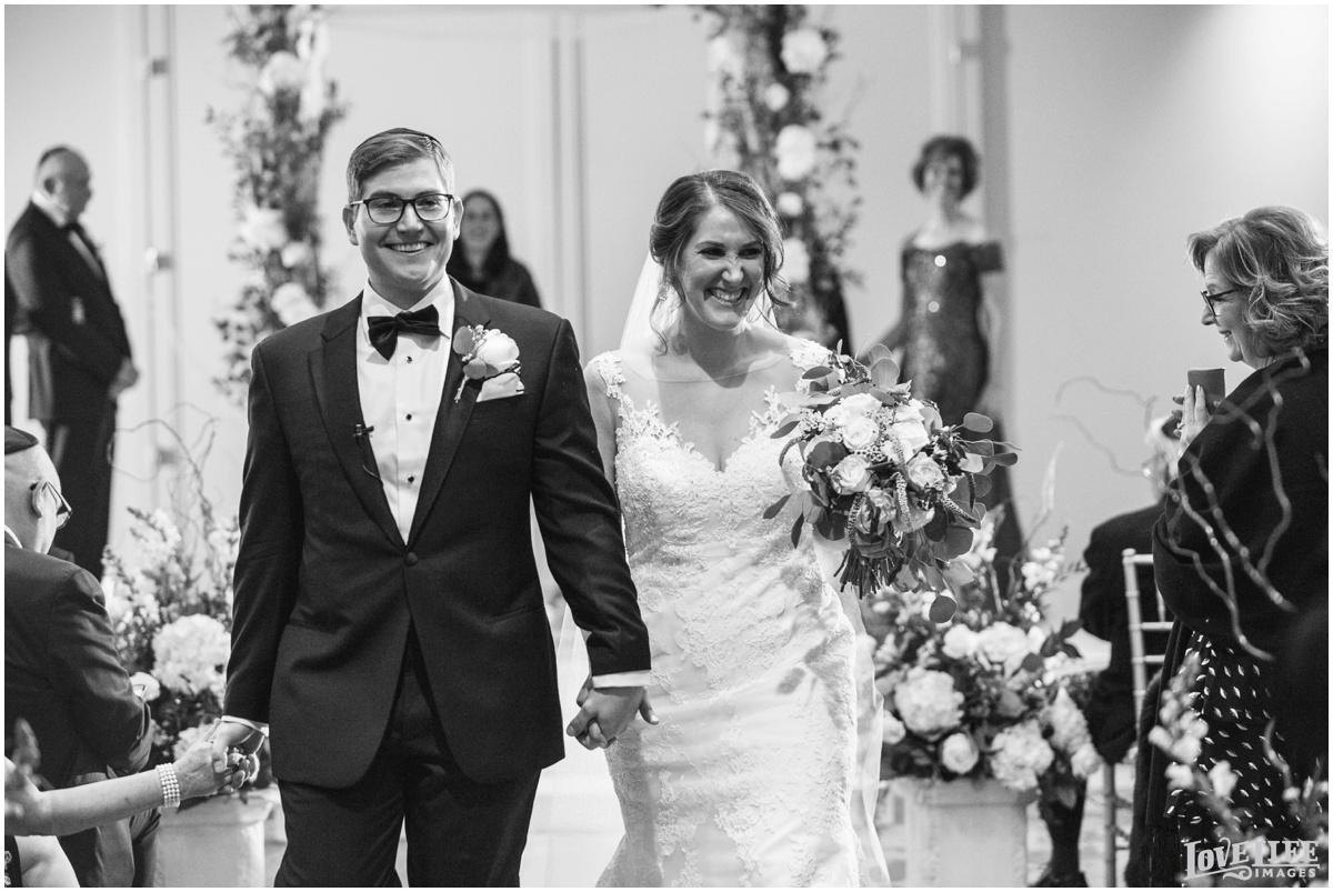 Fairmont DC Wedding bride groom recessing.jpg