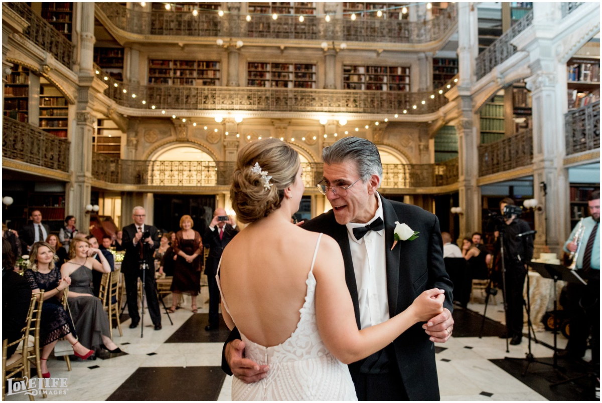Peabody Library Baltimore Glam Wedding father daughter dance.jpg
