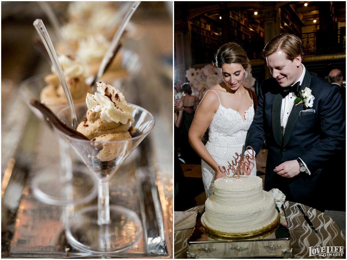 Peabody Library Baltimore Glam Wedding cake cutting.jpg