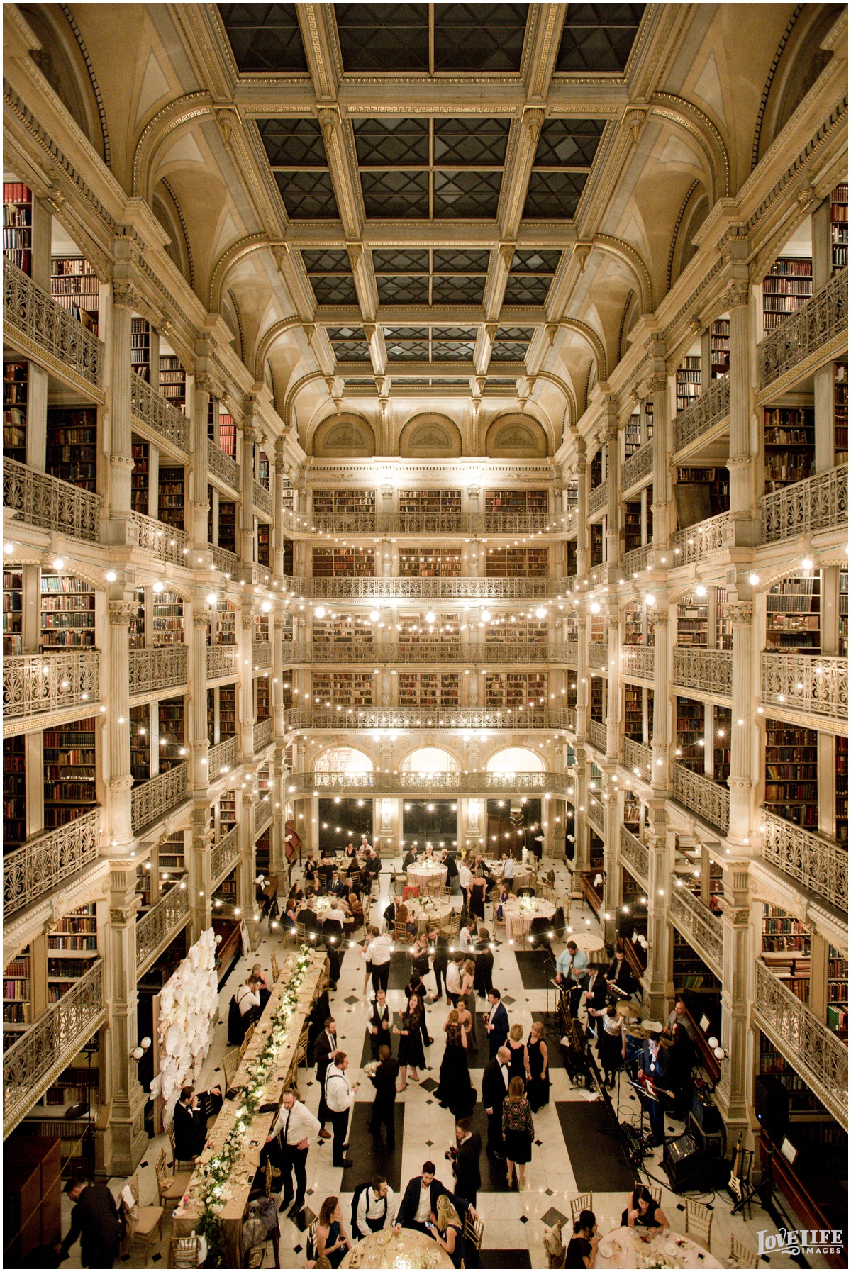 Peabody Library Baltimore Glam Wedding reception birds eye view.jpg