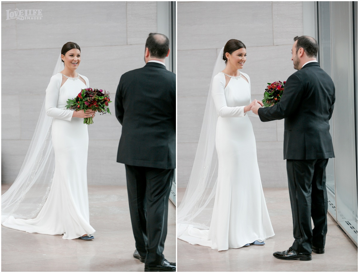 Winter District Winery Wedding first look at dc art museum.JPG