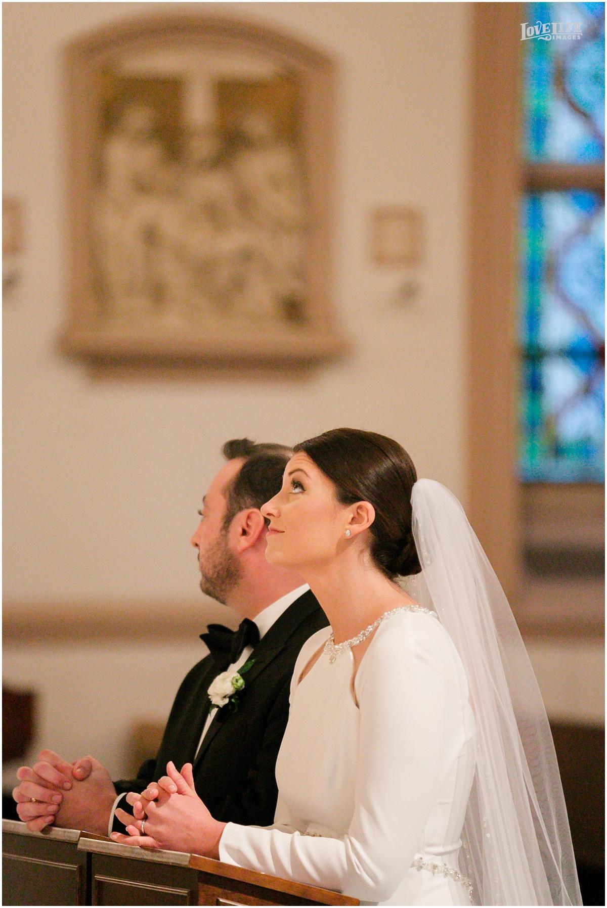 Winter District Winery Wedding bride groom prayers.JPG