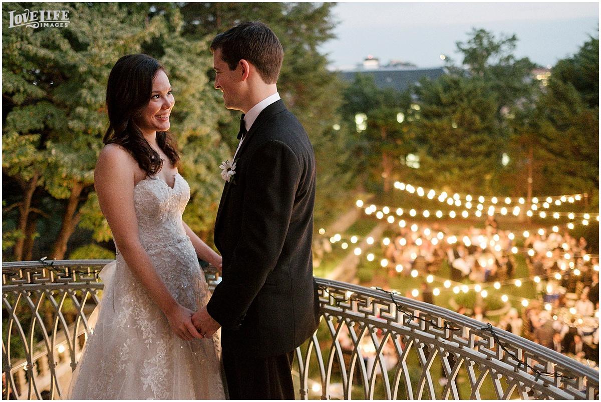 Washington DC and Baltimore Wedding Photographer Private Balcony Moment.JPG