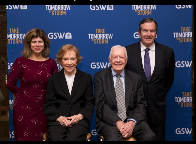 Stephanie and Rodger with President and Mrs. Jimmy Carter