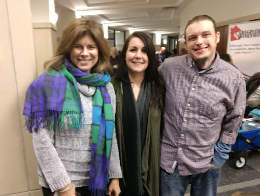 Stephanie with Kelly and Scott Stephenson (from the movie) at the Kansas City screening!