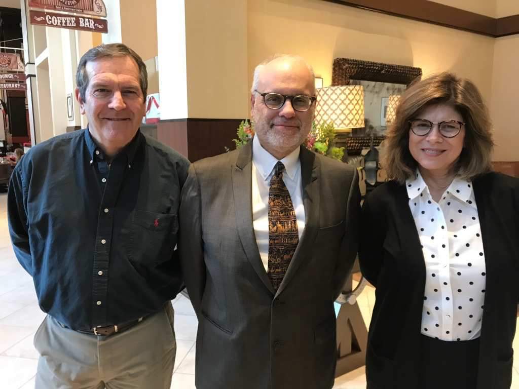Rodger, Dean David Perlmutter, and Stephanie at Texas Tech University