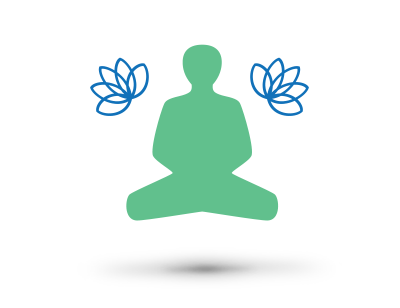 Meditation - Tension and stress are two of the most common roadblocks to wellness. The act of meditation calls to action your body's natural relaxation responses to offer you a more satisfying and beneficial rest, as well as a deeper overall awareness throughout your day.