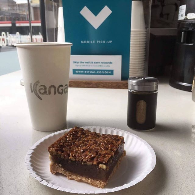 Not only do we serve amazing pies, we also have a dam good! coffee  #coffee #pies #eatkanga #winter #christmas