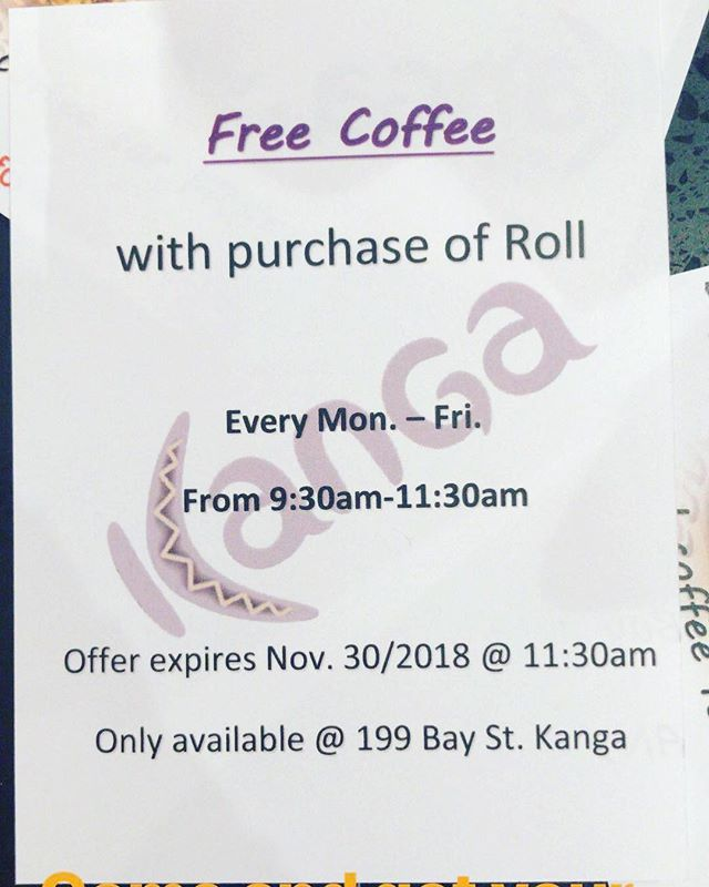 Come and get ur free coffee! Offer for a limited time only #free #coffee #pie #eatkanga #holidays