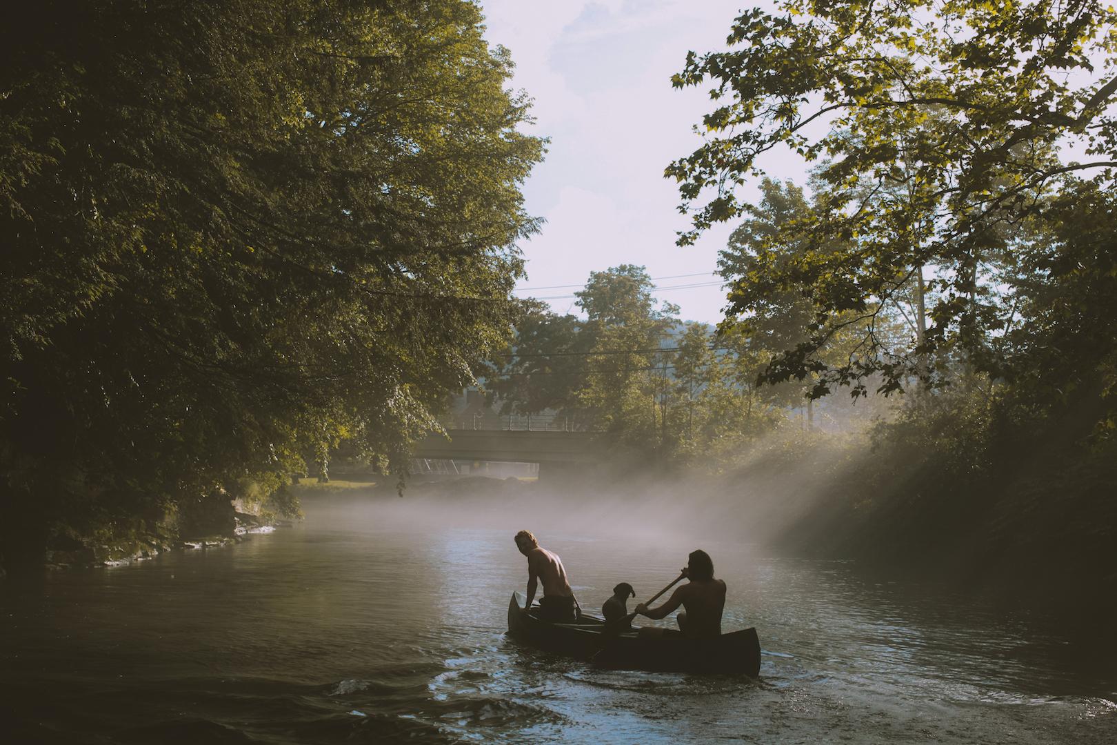 Canoe on The River.JPG
