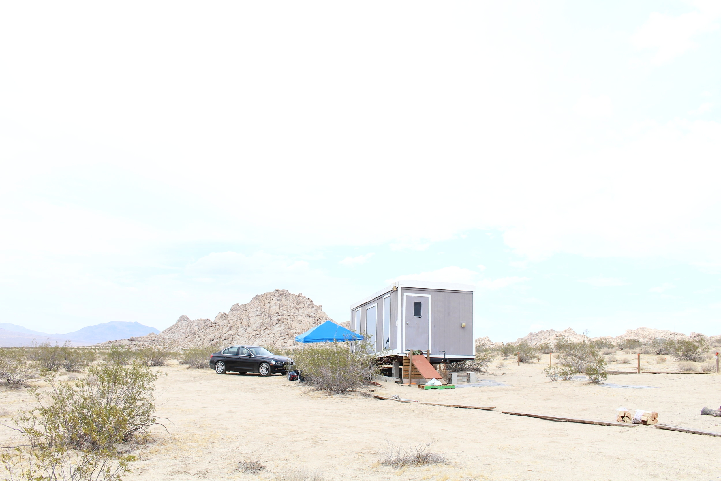 Our base camp for the desert shoot