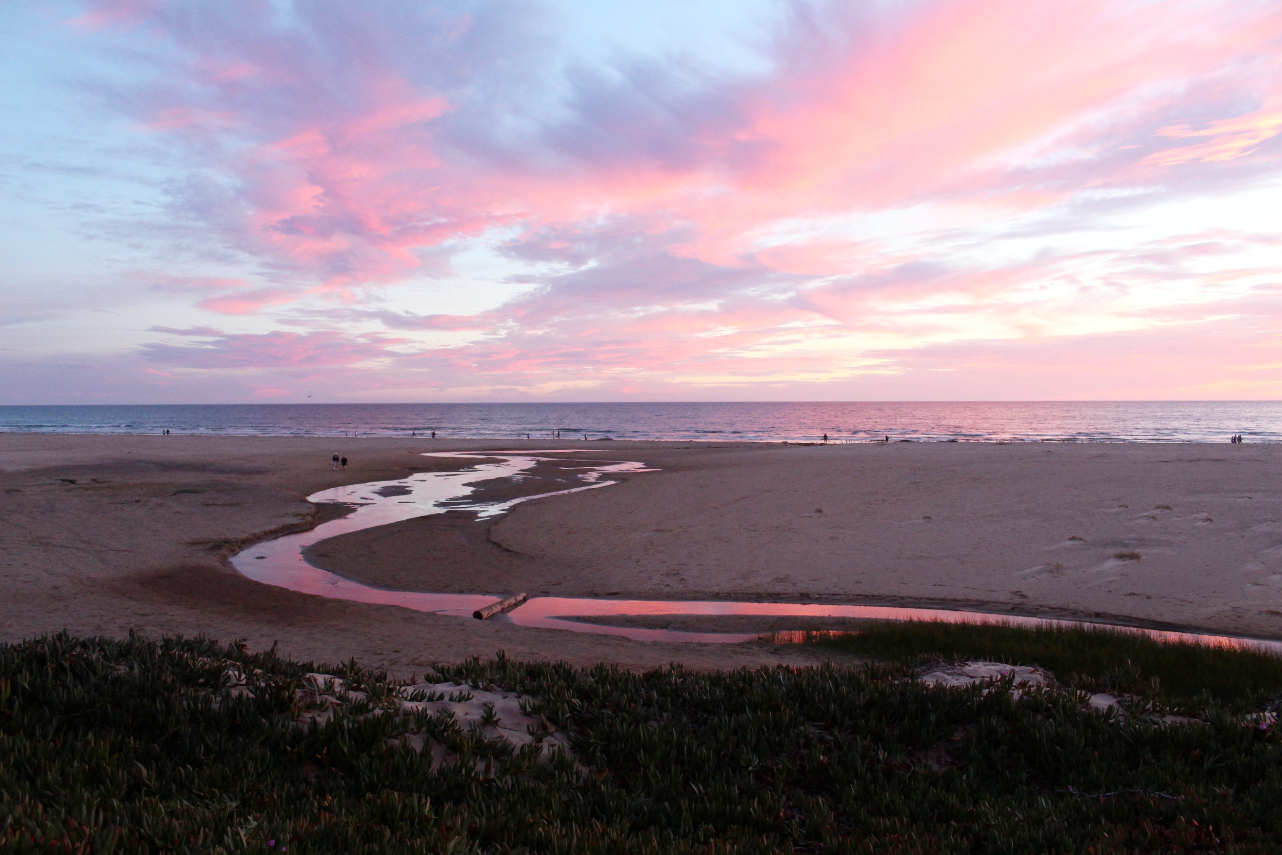 My favorite sunset of all time at Pismo Beach, California, in August 2015