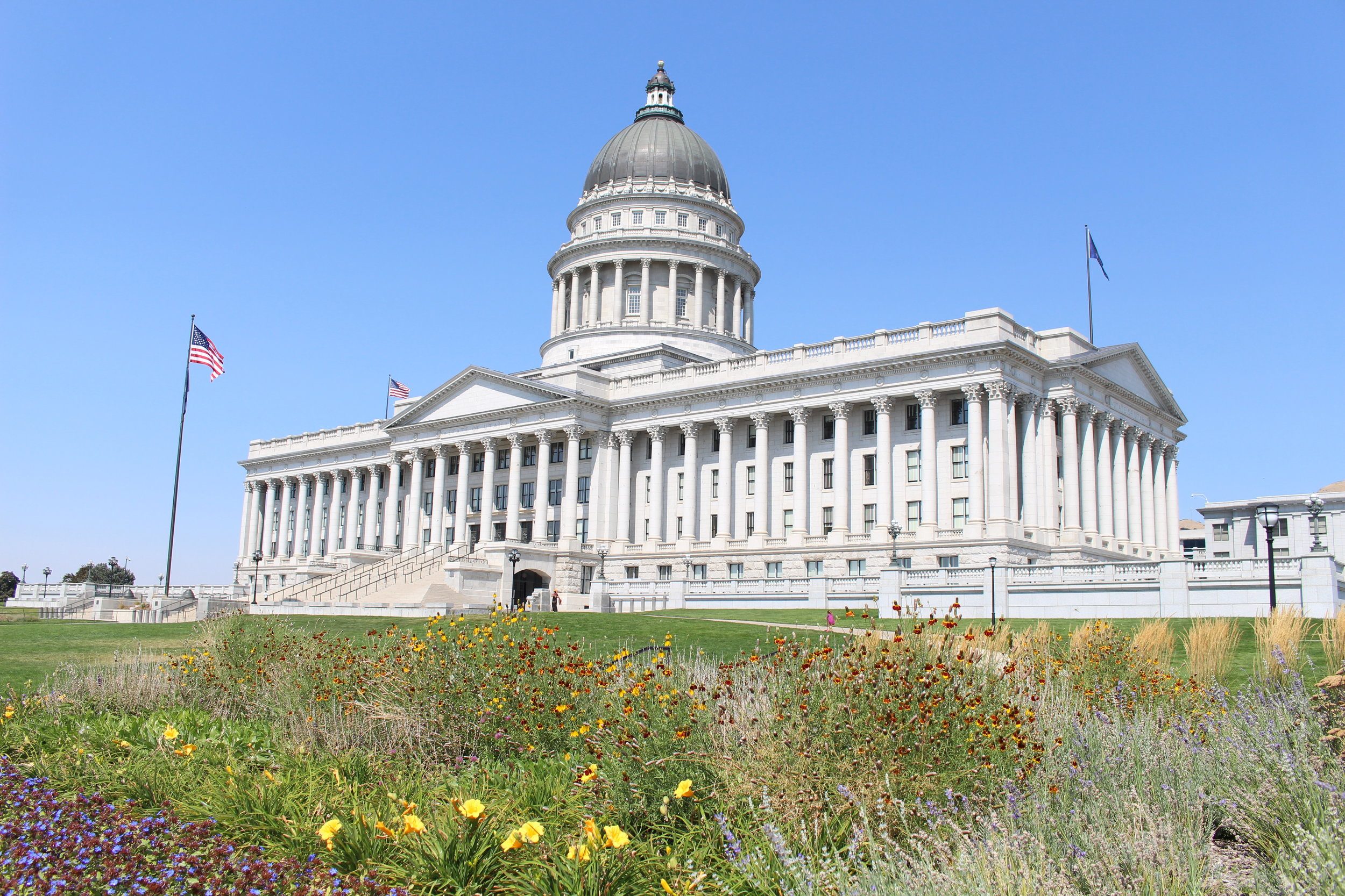 The Utah State Capitol building