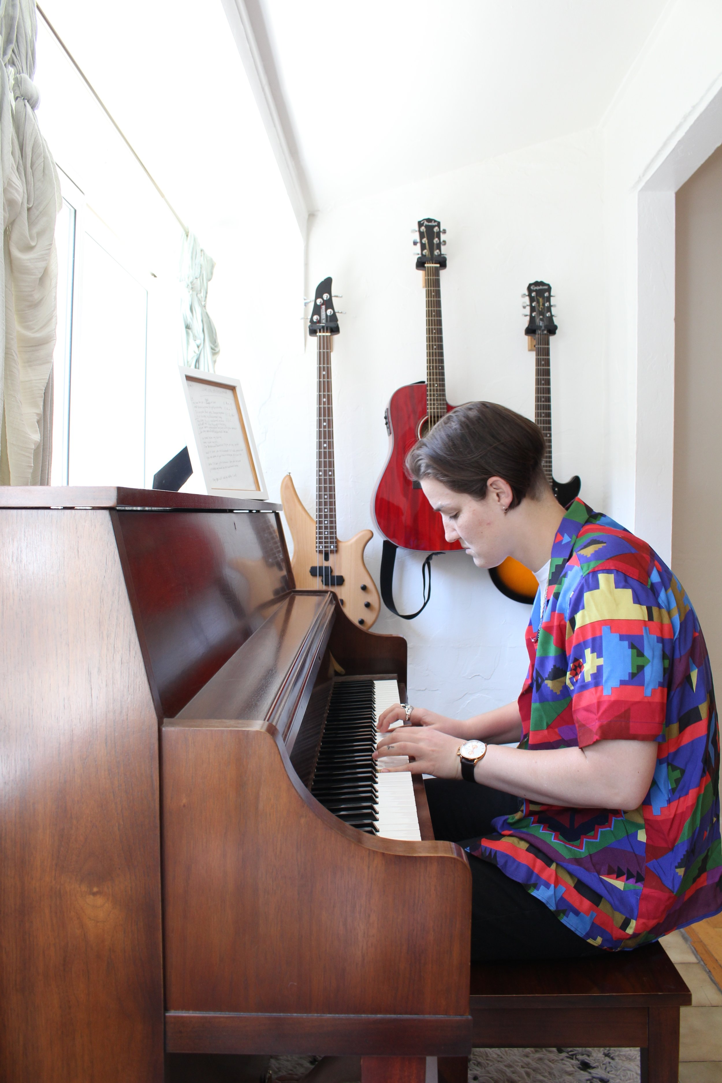 Home Tour_Grace Playing Piano