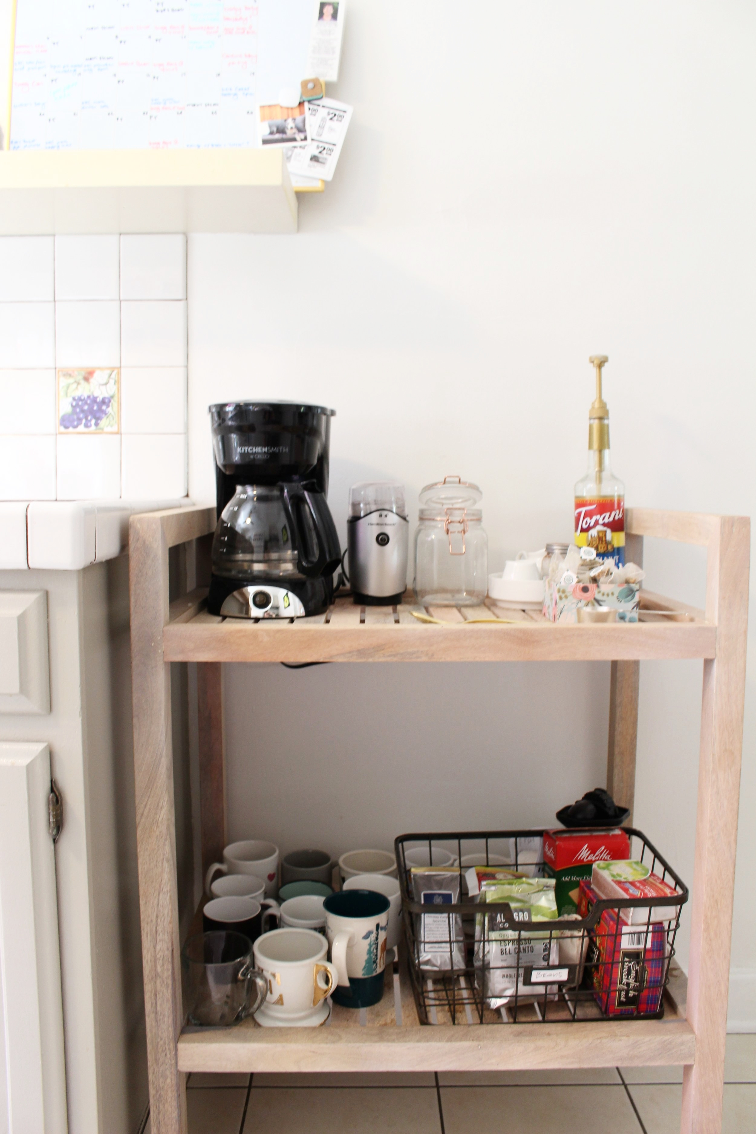 A coffee cart I bought & styled for Grace's birthday a couple of years ago. Coffee is Grace's love language for sure.